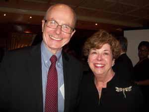 Bellerose Trustee John Tweedy and Baxter Estates Mayor Nora Haagenson