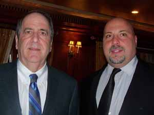 East Williston Mayor and NCVOA Past President David Tanner with guest speaker Eric Alexander, executive director of Vision Long Island