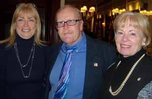 Farmingdale Trustee Cheryl Parisi, Mayor Ralph Ekstrand, and Deputy Mayor Pat Christiansen