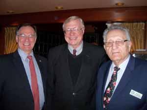 Floral Park Mayor Tom Tweedy, NCVOA President Bernie Ryba, and NCVOA Executive Director Warren Tackenberg