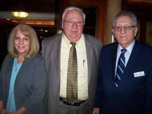 Freeport Mayor's Assistant Peggy Lester, newly elected NYS Senator John Brooks, and NCVOA Executive Director Warren Tackenberg