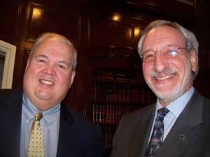 Garden City Trustee Bob Bolebruch with NCVOA Executive Director Ralph Kreitzman