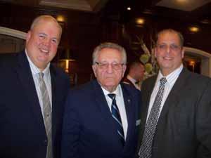 Garden City Trustee Robert Bolebruch, NCVOA Executive Director Warren Tackenberg, and Stewart Manor Mayor Jerry Tangredi
