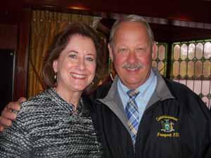 Great Neck Plaza Mayor Jean Celender with Freeport Mayor and NCVOA 1st Vice President Bob Kennedy