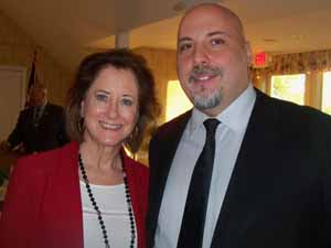 Great Neck Plaza Mayor and NCVOA 2nd Vice President Jean Celender with Eric Alexander, executive director of Vision Long Island, a Friends of the NCVOA member