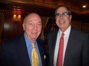 Great Neck Plaza Trustee Jerry Schneiderman and North Hills Trustee Elliott Arnold