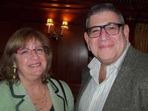 Great Neck Plaza Trustee Pam Marksheid with newly elected Great Neck Estates Trustee Ira Ganzfried