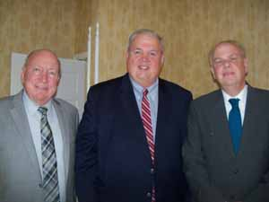 Hempstead Mayor Don Ryan, Garden City Trustee Bob Bolebruch, and Town of Hempstead's Bert Patterson
