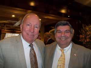 Hempstead Mayor Don Ryan and East Rockaway Mayor Bruno Romano