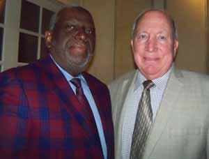 Hempstead Trustee Charles Renfroe with Mayor Don Ryan