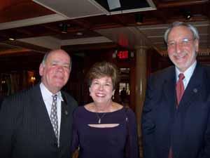 Mineola Trustee Paul Cusato, Baxter Estates Mayor Nora Haagenson, and former Great Neck Mayor and NCVOA Past President Ralph Kreitzman