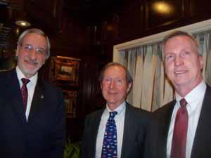 NCVOA Executive Director Ralph Kreitzman, Baxter Estates Deputy Mayor Charles Comer, and Baxter Estates Village Attorney Chris Prior