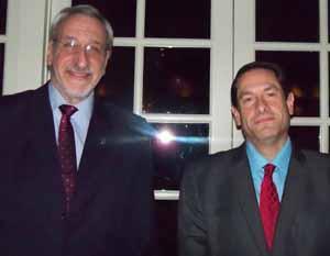 NCVOA Executive Director Ralph Kreitzman with guest speaker Brian Rauer