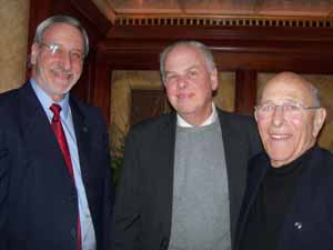 NCVOA Past President and former Great Neck Mayor Ralph Kreitzman, Bert Patterson from the Town of Hempstead, and NCVOA and NYCOM Past President Ernie Strada