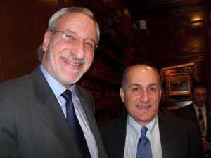 NCVOA Past Presidents Ralph Kreitzman, former Great Neck Mayor, and Peter Cavallaro, Westbury Mayor