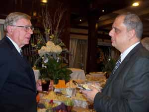 NCVOA President and Old Brookville Mayor Bernie Ryba with Stewart Manor Mayor Jerry Tangredi
