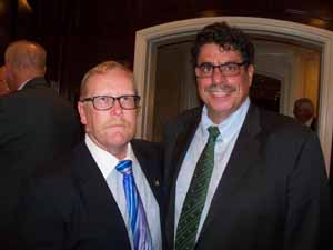 NCVOA President-elect and Farmingdale Mayor Ralph Ekstrand with newly elected Farmingdale Trustee Anthony Addeo