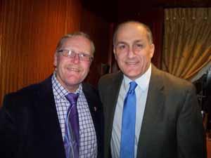 NCVOA Treasurer and Farmingdale Mayor Ralph Ekstrand with NCVOA Past President and Westbury Mayor Peter Cavallaro