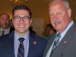 Nassau County Comptroller Jack Schnirman with Freeport Mayor and NCVOA President Bob Kennedy
