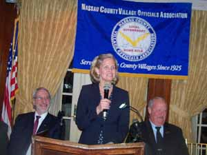 Nassau County Executive Laura Curran addressed the NCVOA membership