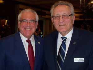 Newly appointed Sea Cliff Mayor Ed Lieberman with NCVOA Executive Director Warren Tackenberg