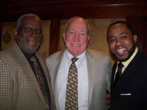 Newly elected Hempstead Trustee Charles Renfroe with newly elected Mayor Don Ryan and Special Assistant to the Mayor Sedgwick Easley