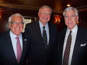 Newly elected Sea Cliff Mayor Ed Lieberman, Old Brookville Mayor and NCVOA President Bernie Ryba, and Upper Brookville Mayor Elliot Conway
