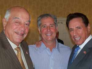 North Hills Mayor and NCVOA Past President Marvin Natiss, Old Westbury Trustee Cory Baker and Mayor Fred Carillo