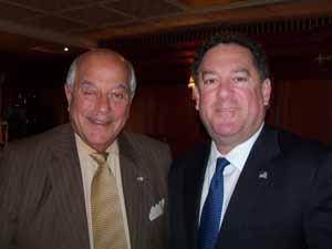 North Hills Mayor and NCVOA Past President Marvin Natiss with Brookville Mayor Dan Serota