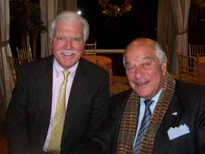Peter MacKinnon, village attorney for Cove Neck, Upper Brookville and Roslyn Harbor, and NCVOA Past President and North Hills Mayor Marvin Natiss