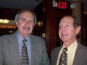 Plandome Heights Trustee Al Solomon and Baxter Estates Deputy Mayor Charles Comer