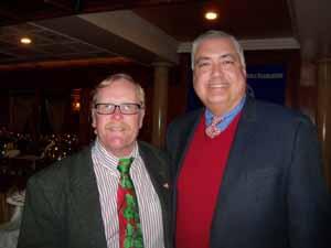 Proudly Ralph Ekstrand, mayor of the Village of Farmingdale and NCVOA treasurer, with Jorge Martinez, deputy mayor, Village of Freeport
