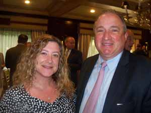 Roslyn Trustee Sarah Oral and Richard Tortora, president of Capital Markets Advisors – a Friends of the NCVOA member