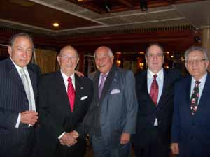 Several NCVOA Past Presidents attended the December Holiday reception and posed for this photo