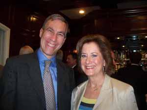 Thomaston Mayor Stephen Weinberg with NCVOA 1st Vice President-elect and Great Neck Plaza Mayor Jean Celender