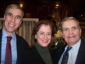 Thomaston Mayor Steven Weinberg, Great Neck Plaza Mayor Jean Celender, and Garden City Mayor Nick Episcopia