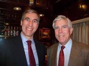Thomaston Mayor Steven Weinberg and Upper Brookville Mayor Elliot Conway