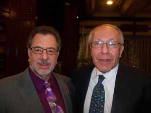 Westbury Trustee Steve Corte with NCVOA Counsel Gary Fishberg