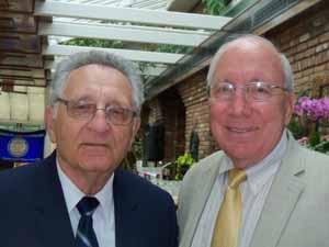 ncvoa executive director warren tackenberg with hempstead mayor don ryan