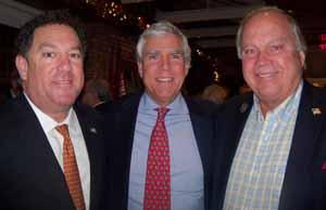 Brookville Mayor Dan Serota, Upper Brookville Mayor Elliot Conway, and Centre Island Mayor Larry Schmidlapp