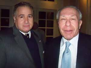 Mineola Village Clerk Joe Scalero and NCVOA Counsel Gary Fishberg