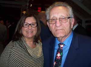 NCVOA Past President Barbara Donno with retiring NCVOA co-Executive Director Warren Tackenberg