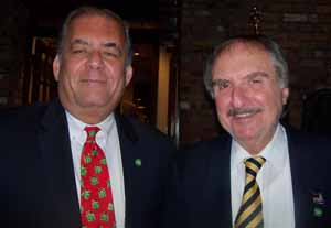 Plandome Heights Mayor Ken Riscica and Trustee Al Solomon