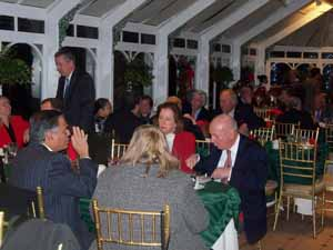 Village officials gathered at the annual holiday party to enjoy good food and camaraderie