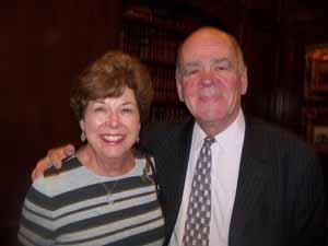 Baxter Estates Mayor Nora Haagenson with Mineola Trustee Paul Cusato