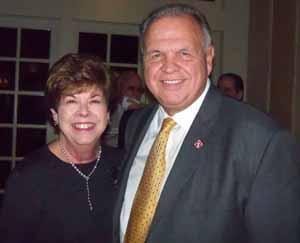 Baxter Estates Mayor Nora Haagenson with North Hills Deputy Mayor Dennis Sgambati