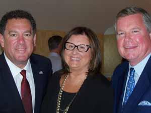 Brookville Mayor Dan Serota, Plandome Manor Mayor and NCVOA Past President Barbara Donno, and Mill Neck Mayor Peter Quick