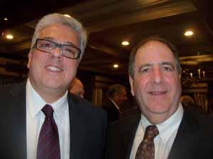 Cedarhurst Village Administrator Sal Evola with East Williston Mayor and NCVOA Past President David Tanner