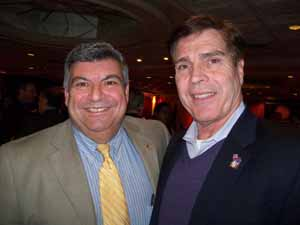 East Rockaway Mayor Bruno Romano with Lynbrook Mayor Alan Beach