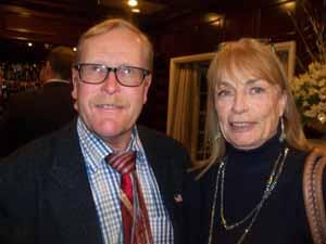 Farmingdale Mayor and NCVOA President Ralph Ekstrand with Trustee Cheryl Parisi